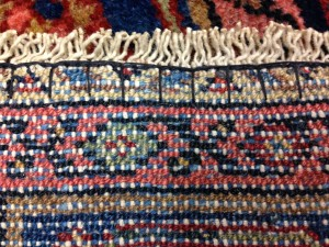 Repaired & Secured Rug Fringe
