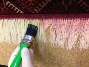 Colour Bleed In Rug Fringe