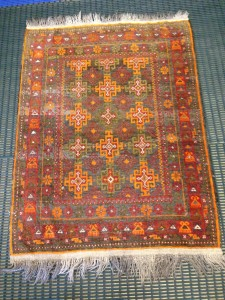 Afghan Baluch Tribal Rug Cleaning from Customer in Godalming - 29 July 2015
