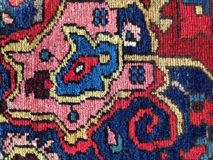 Colours Restored in Persian Hamadan Rug after Washing. Customer in Guildford - 10 July 2015