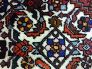 Persian Bidjar Rug after Cleaning from Virginia Water
