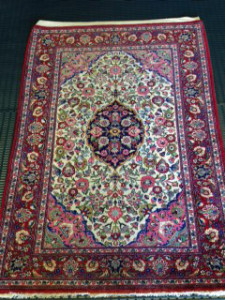 Persian Qum Rug Cleaned for Customer in Elstead - 20 October 2015