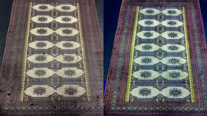 Bokara Rug Cleaned for Customer in Bagshot