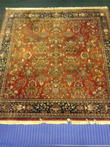 Indian Rug (Persian Sarouk Design) Cleaning for Customer in Crondall, Farnham