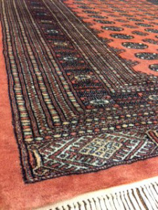 Pakistani Bokhara Rug Cleaning for Customer in Esher - 11 November 2015