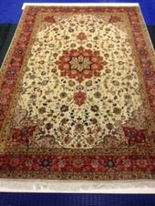 Persian Wool & Silk Pile Tabriz Rug Cleaning from Cobham