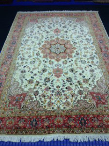 Wool & Silk Persian Tabriz Rug Cleaning from Wokingham