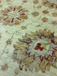 Afghan Ziegler Rug Detail After Cleaning - Customer in Godalming
