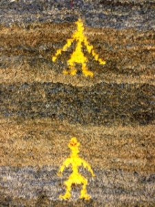 Persian Gabbeh Rug Detail - Professional Rug Cleaning for Customer in Farnham