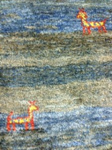 Persian Gabbeh Rug Detail - Specialist Rug Cleaning for Customer in Farnham