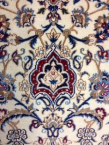 Detail of a Persian Nain - Oriental Rug Care for Customer in Virginia Water