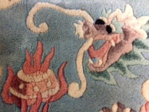 Dragon on Chinese Rug - Rug Cleaning in Crondall, Farnham