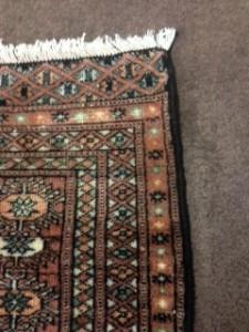 Oriental rug side repaired