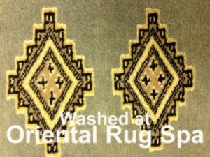 Pakistani Bukhara Gul Carpet - Rug Cleaning for Customer in Elstead, Godalming