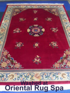 Floral Chinese Carpet - Rug Cleaning Guildford