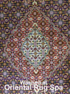 Persian Mahi Tabriz Medallion - Rug Cleaning Farnham
