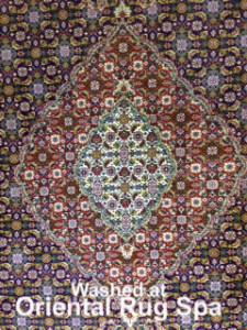 Persian Mahi Tabriz Medallion - Rug Cleaning Farnham