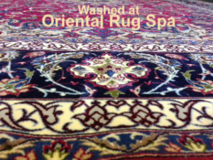 Persian Isfahan Border Detail - Oriental Rug Cleaning Chobham