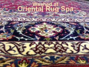 Persian Isfahan Border Detail - Oriental Rug Cleaning Chobham