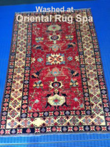 Afghan Kazak Design Rug - Oriental Persian Rug Cleaning Virginia Water
