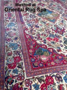 Antique Kashan Carpet - Persian Rug Cleaning Hook