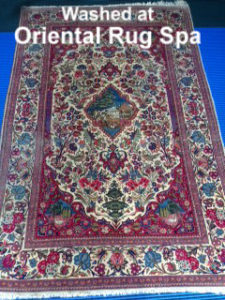 Antique Persian Kashan - Oriental Rug Cleaning Hook, Hampshire