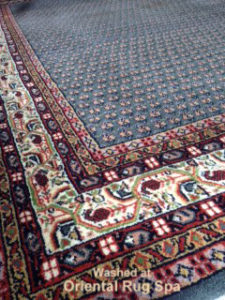 Indian rug with Persian design - oriental rug cleaning Bagshot, Surrey