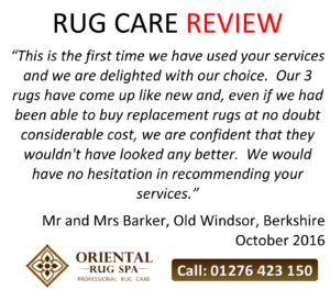 Chinese Rug Cleaning - Windsor Berkshire