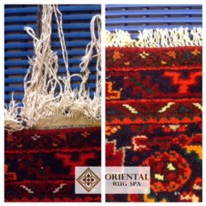 Fringe Repair Persian Hamadan - Persian Oriental Rug Repair Ascot Berkshire
