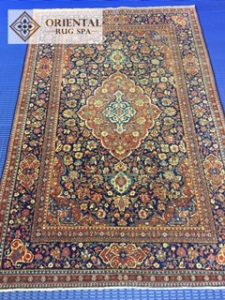 September 2017 - Brookwood, Woking, Surrey - Antique Kashan Rug washed by Oriental Rug Spa