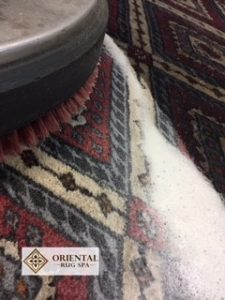 Wool and Silk Pakistani Bukhara Rug Cleaning Frimley Green, Camberley, Surrey